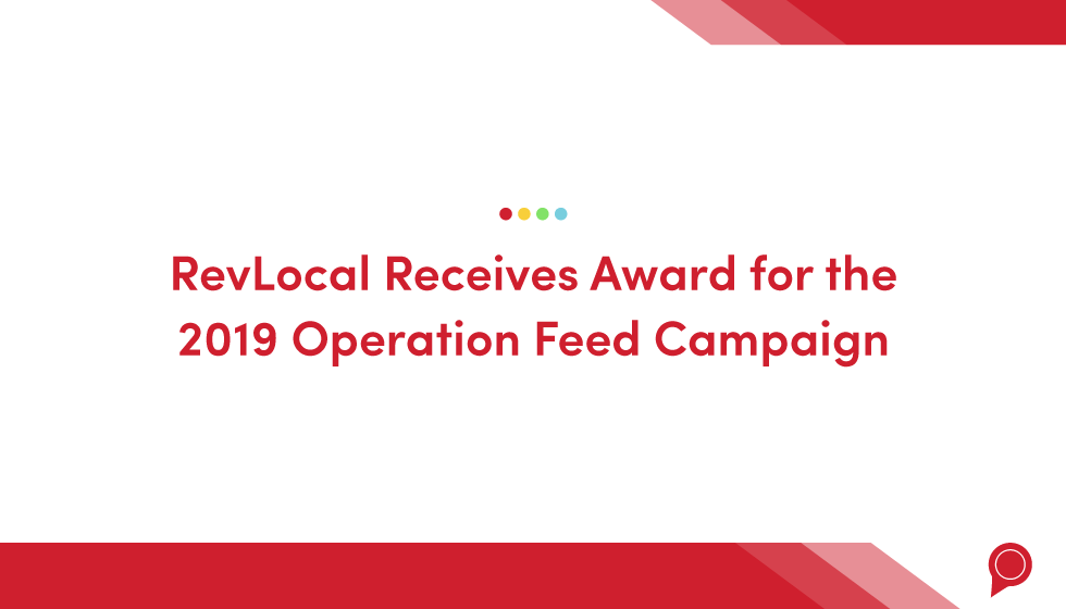 RevLocal receives award for the 2019 Operation Feed Campaign