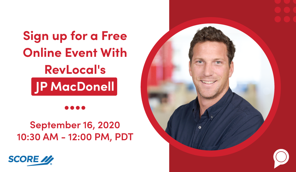 Sign up for a Free Online Event With RevLocal's JP MacDonell
