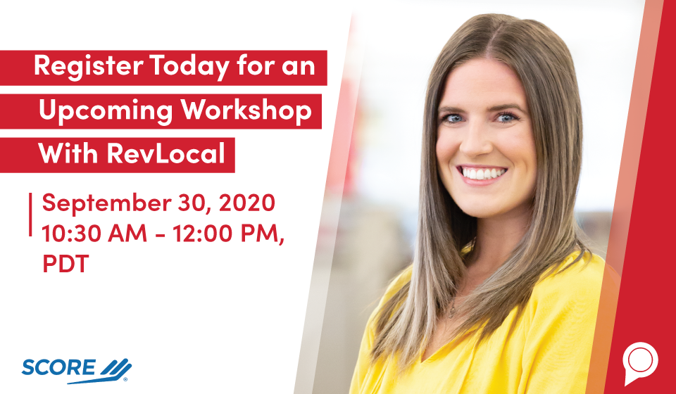 Register Today for an Upcoming Workshop With RevLocal